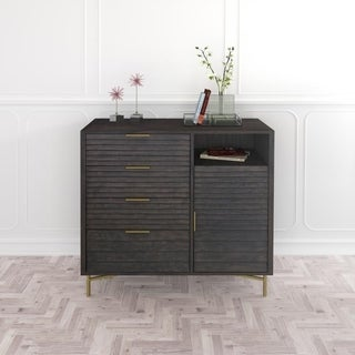 Hopper Studio Portland Grey 4 Drawer Door Chest