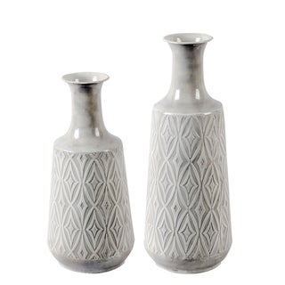 2pc Damask Vases