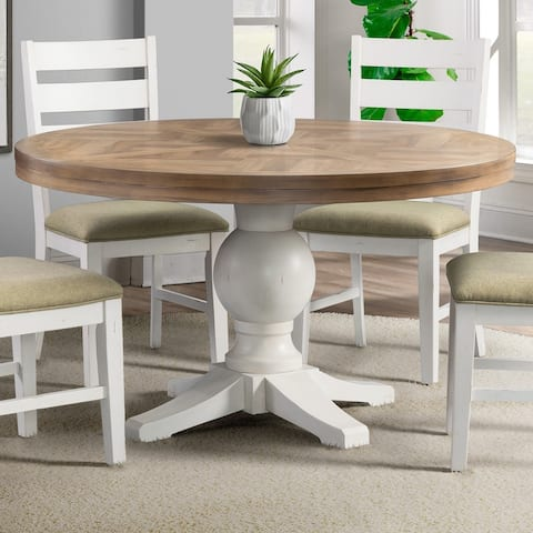 Picket House Furnishings Barrett Round Standard Height Dining Table - N/A