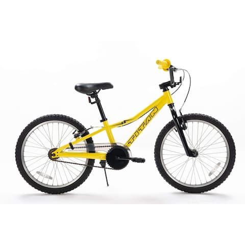 TITAN Lightning 20-Inch Aluminum Short Frame Hybrid Youth BMX Bike, Yellow