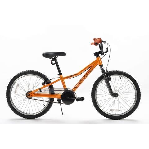 TITAN Lightning 20-Inch Aluminum Short Frame Hybrid Youth BMX Bike, Mango Red