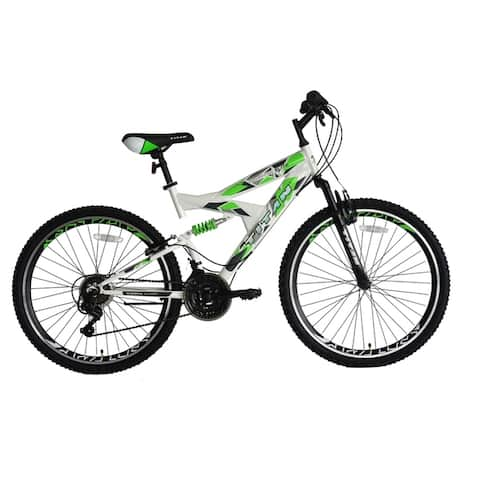 TITAN Pathfinder Elite Dual Suspension Mountain Bike, 21-speeds, 18-Inch Frame