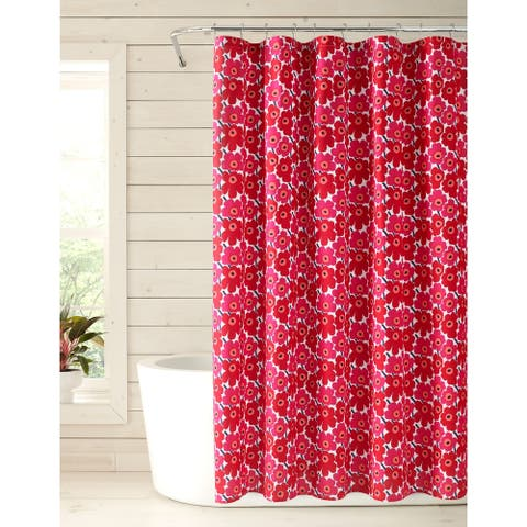 Marimekko Mini Unikko Red Shower Curtain