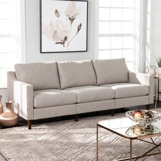 Harper Blvd Davis Transitional Beige Fabric Sofa (Beige)