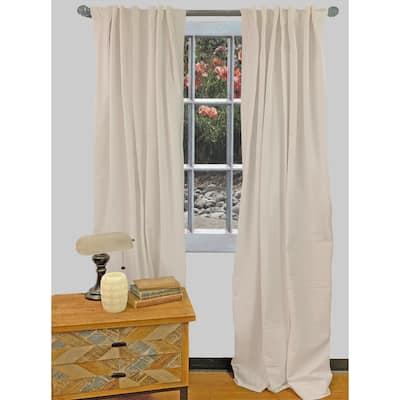 Porch & Den Nasoma Milky Ivory Cotton Curtain Panel Pair