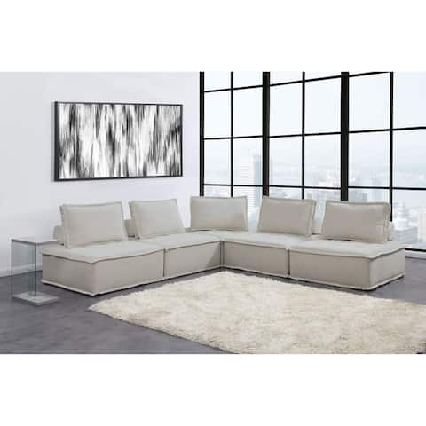 Picket House Furnishings Cube Modular Seating 5PC Sectional