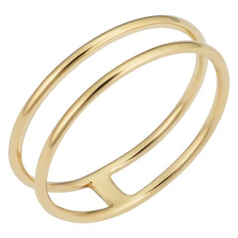 14k Yellow Gold 5.25 millimeter Minimalist Double Ring