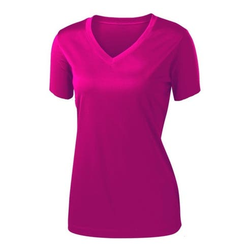Women's Short-Sleeve Colorful Sports T-Shirt. Plus Sizes Available.