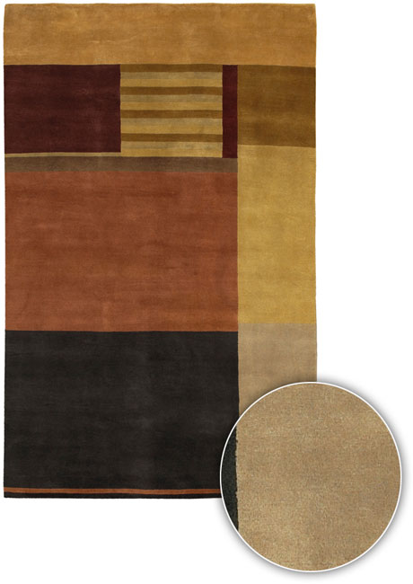 Artist's Loom Hand-knotted Contemporary Geometric Wool Rug (7'9x10'6) - 8' x 11'