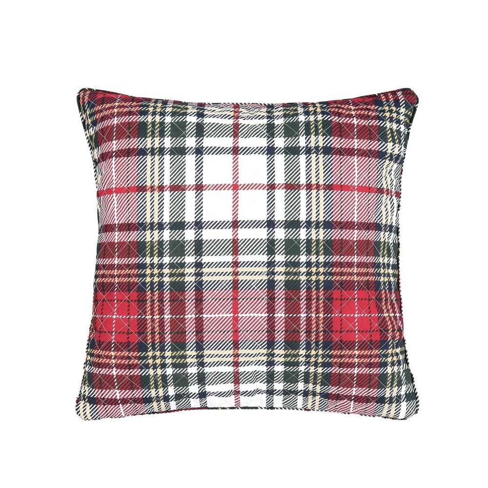 Red Plaid Zipper Pillow