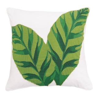 Laila Banana Leaves Decorative Accent Throw Pillow