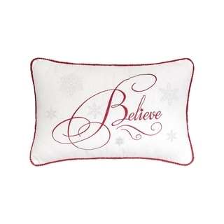 Believe Embroidered Pillow