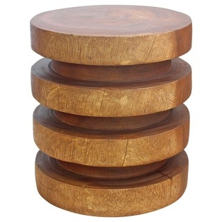 Carson Carrington Hoglanda Handmade Towering Rings End Table