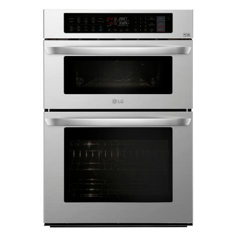 LG LWC3063ST 1.7/4.7 cu. ft. Smart wi-fi Enabled Combination Double Wall Oven - Stainless Steel