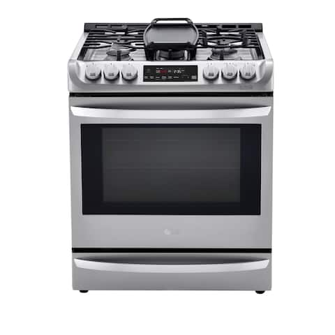 LG LSD4913ST 6.3 cu. ft. Smart wi-fi Enabled Dual Fuel Slide-in Range with ProBake Convection and EasyClean - Stainless Steel