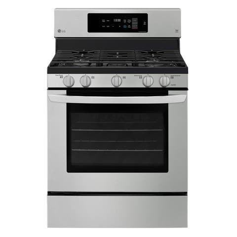 LG LRG3194ST 5.4 cu. ft. Gas Single Oven Range with Fan Convection and EasyClean - Stainless Steel