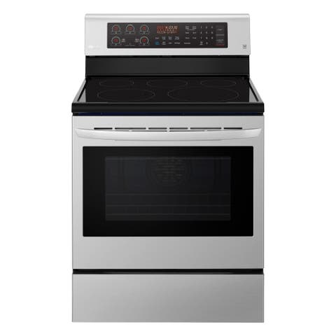 LG LRE3194ST 6.3 cu. ft. Electric Single Oven Range with True Convection and EasyClean - Stainless Steel