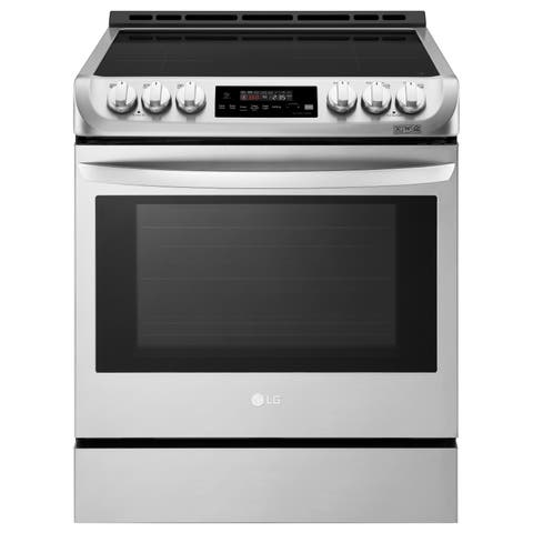 LG LSE4616ST 6.3 cu. ft. Smart wi-fi Enabled Induction Slide-in Range with ProBake Convection and EasyClean - Stainless Steel