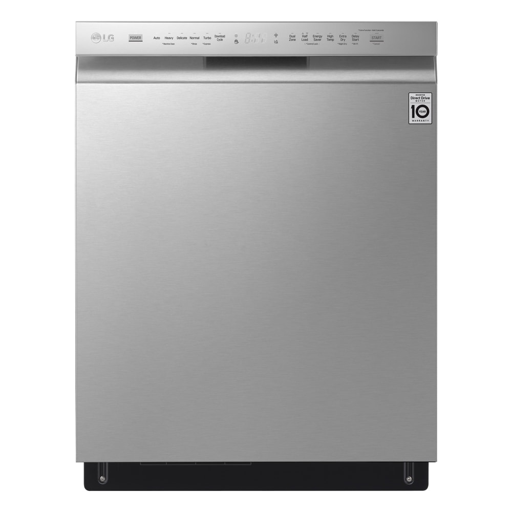 LG  LDF5678ST Front Control Smart wi-fi Enabled Dishwasher with QuadWash - Stainless Steel