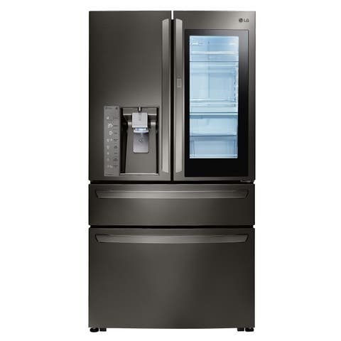 LG LMXS30796D 30 cu. ft. Smart wi-fi Enabled InstaView Door-in-Door Refrigerator - Black Stainless Steel