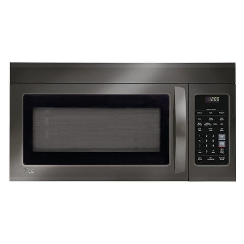 LG LMV1831BD 1.8 cu. ft. Over-the-Range Microwave Oven with EasyClean - Black Stainless Steel