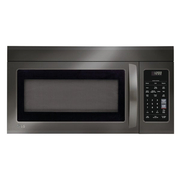 Over The Range Microwave Magic Chef 1.6 cu Black Color 1000 Watts 10 Levels ft