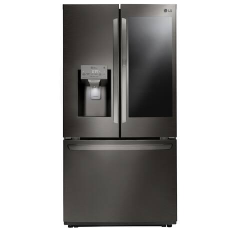 LG LFXC22596D 22 cu. ft. Smart wi-fi Enabled InstaView Door-in-Door Counter-Depth Refrigerator - Black Stainless Steel