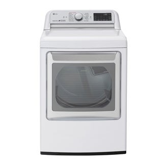 Link to LG DLGX7801WE 7.3 cu.ft. Smart wi-fi Enabled Gas Dryer with TurboSteam - White Similar Items in Large Appliances