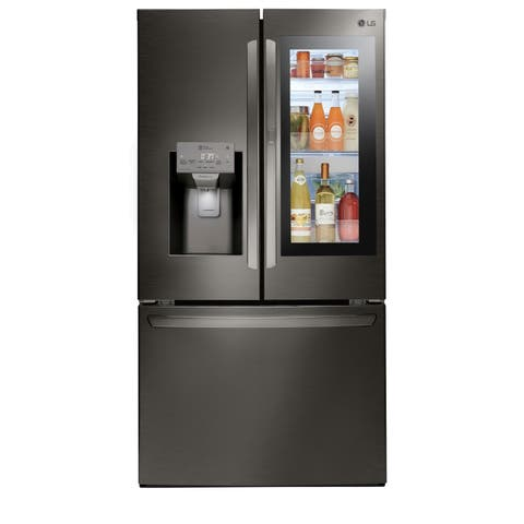 LG LFXS28596D 28 cu. ft. Smart wi-fi Enabled InstaView Door-in-Door Refrigerator - Black Stainless Steel