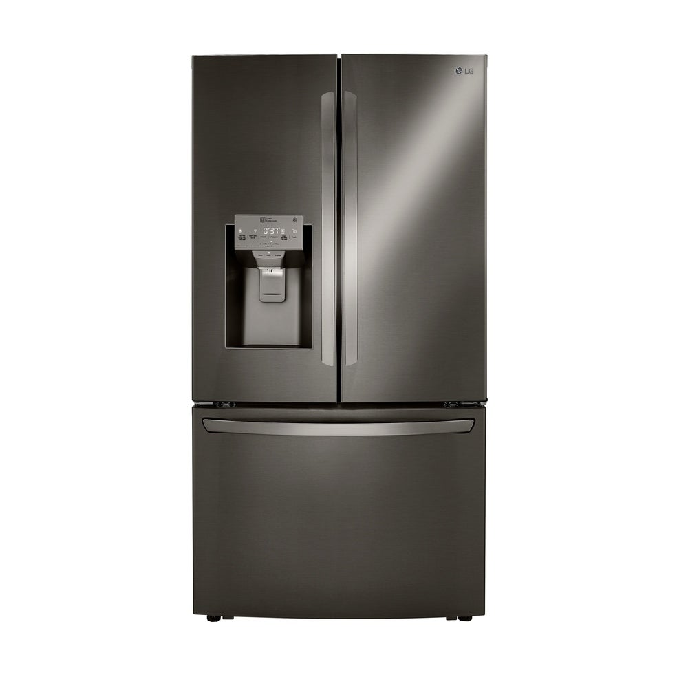 LG  LRFXC2406D 24 cu. ft. Smart wi-fi Enabled French Door Counter-Depth Refrigerator - Black Stainless Steel