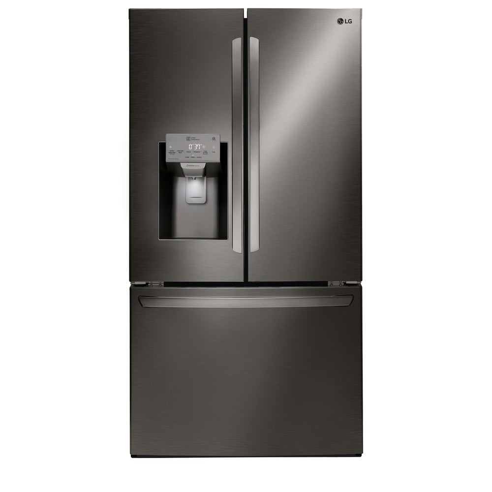 LG  LFXC22526D 22 cu. ft. Smart wi-fi Enabled French Door Counter-Depth Refrigerator - Black Stainless Steel