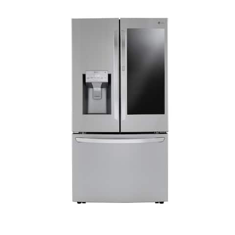 LG LRFVS3006S 30 cu. ft. Smart wi-fi Enabled InstaView Door-in-Door Refrigerator with Craft Ice Maker - Stainless Steel