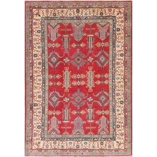 "Traditional Kazak Classic Hand Knotted Wool Oriental Pakistani Rug - 8'8"" x 5'11"""