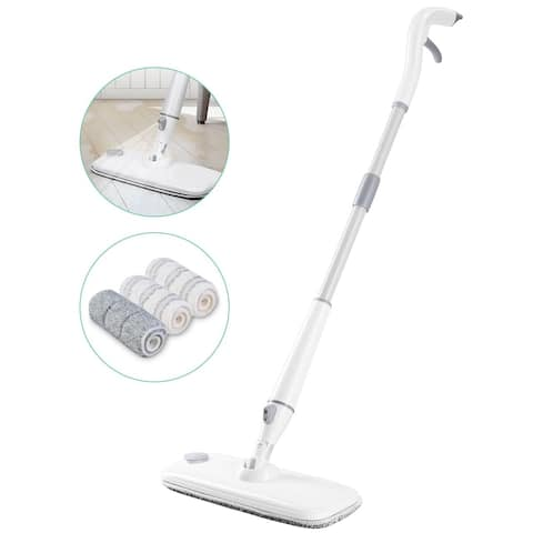 Homitt Floor Spray Mop with 3 Detachable and Washable Microfiber Pads and Handle Ultralight for Home Kitchen