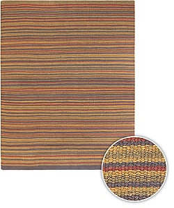 Artist's Loom Hand-woven Casual Stripes Natural Eco-friendly Jute Rug (7'9x10'6)