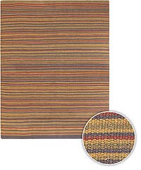 Artist's Loom Hand-woven Casual Stripes Natural Eco-friendly Jute Rug - 8' x 11'
