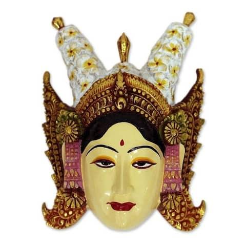 Handmade Beautiful Legong Dancer Wood Mask (indonesia)