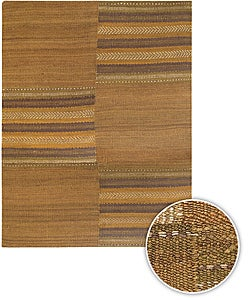 Artist's Loom Handmade Flatweave Casual Geometric Natural Eco-friendly Jute Rug (7'9x10'6)
