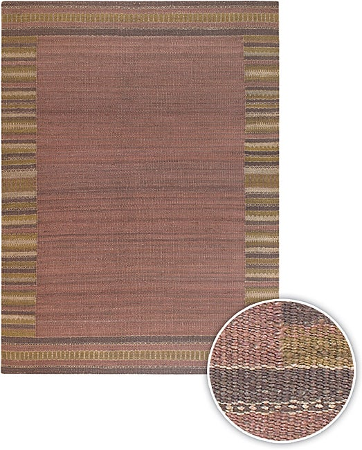 Artist's Loom Handmade Flatweave Casual Border Natural Eco-friendly Jute Rug - 8' x 11'