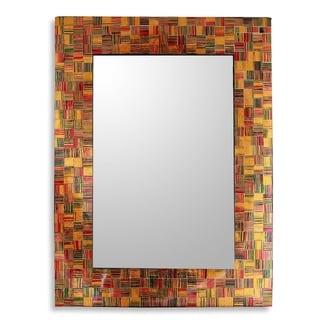 Sunset Flare Glass Mosaic Wall Mirror