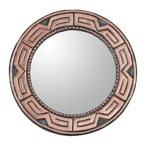 Handmade Tiwanaku Form Copper and Bronze Mirror (Peru)