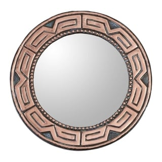 Handmade Tiwanaku Form Copper and Bronze Mirror (Peru)