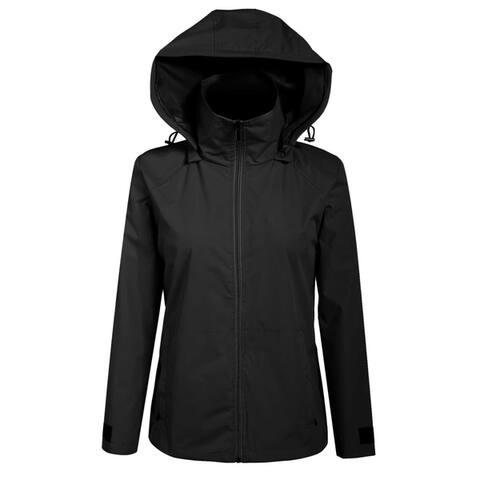 Women Hooded Zip-Up Solid Outdoor Cycling Running Sport Lightweight Jacket