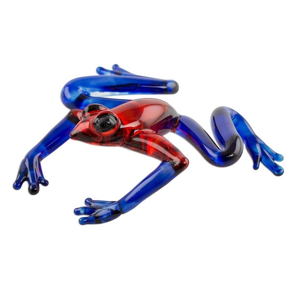 Poison Dart Frog Art Glass Figurine