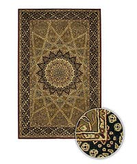 Artist's Loom Hand-tufted Traditional Oriental Wool Rug (5'9 Round) - 6'