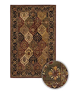 Artist's Loom Hand-tufted Traditional Oriental Wool Rug (5'9 Round) - Thumbnail 0