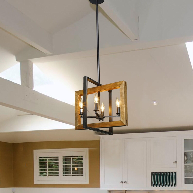 The Gray Barn Green Gables 4-light Pendant Lighting Candelabra Chandelier  Lighting for Kitchen - N/A