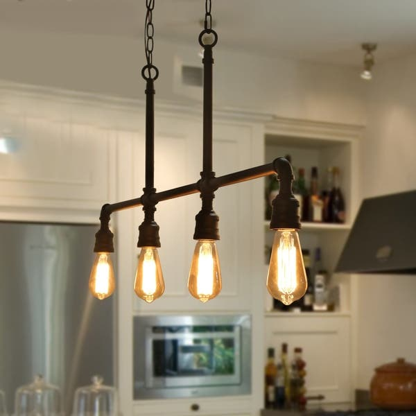 Shop 4-Light Kitchen Island Lighting Industrial Pendant ...