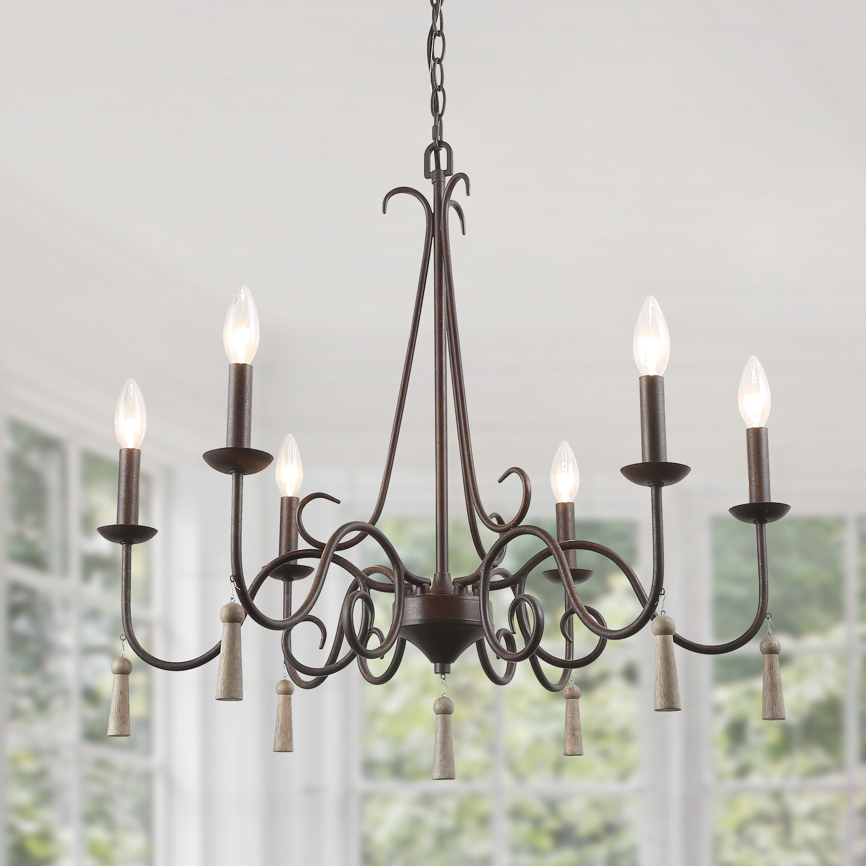 Hickory Cottage 6 Light French Country
