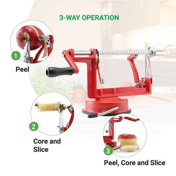 Perfect Peel Apple Peeler Easy Clean Removable Blade Overstock 29213626